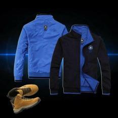 Áo khoác dù 2 lớp 2 màu mặc 2 mặt thêu logo EX