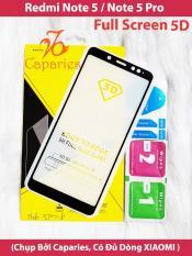 ( Màu ĐEN ) Kính Cường lực REDMI Note 5 PRO / NOTE 5 Full màn hình 5D CAPARIES SIÊU BỀN