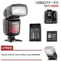 Đèn Flash Godox V860II Cho Canon kèm Trigger Godox X1 tích hợp TTL, HSS 1/8000s (kèm pin và sạc) – Tặng tản sáng Omni bouce