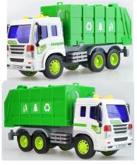 Đồ chơi trẻ em Xe chở rác mô hình tỉ lệ 1:16 có nhạc và đèn 6 bánh xe
