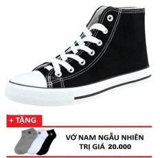 Giày Sneaker nam cổ lửng CV Zavans (Đen) + 1 đôi vớ tặng kèm