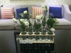 Bộ 5 bình cắm hoa, lọ cắm hoa kèm khung gỗ siêu xinh