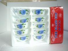 Bộ chén ăn cơm opal sứ Cao cấp (giao hoa văn ngẫu nhiên ), gồm có 2 phân loại bộ 6 chén và bộ 10 chén