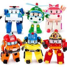 Hộp đồ chơi 6 con biệt đội Robocar Poli biến hình đồ chơi kích thích sự khéo léo và trí tưởng tượng của bé