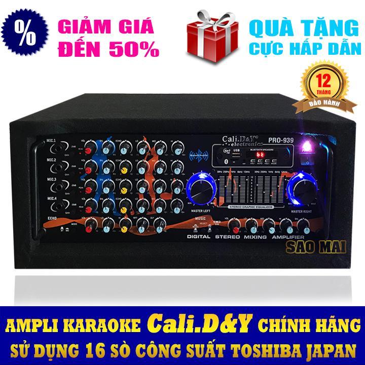 Ampli karaoke Amply nghe nhạc gia đình BLUETOOTH Cali.D&Y PRO-939 ( Tặng USB Kingston 8GB )