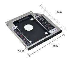 Caddy bay 9.5mm (mỏng) khay lắp thêm ổ cứng thứ 2 cho laptop – Chất liệu nhôm (LD1)