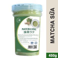 Bột trà xanh sữa 3in1 GreenD Food – Hũ 450gr