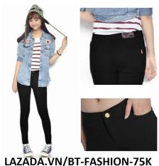 Quần Dài Nữ Kaki Thun Legging Coton (Co Dãn) Thời Trang Hàn Quốc Mới – BT Fahsion (JE)