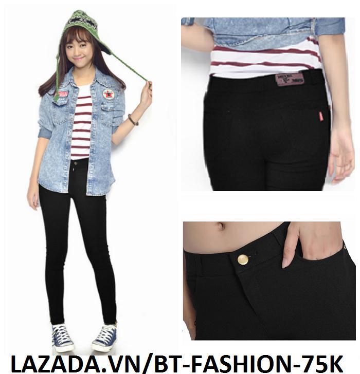 Quần Dài Nữ Kaki Thun Legging Coton (Co Dãn) Thời Trang Hàn Quốc Mới – BT Fahsion