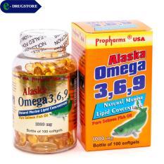 Omega 3,6,9 Alaska Propharms USA. Lọ 100 viên nang mềm