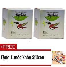 Bộ 2 Trà thảo mộc giảm cân Vy & Tea Chính hãng (Liệu Trình 30 Ngày)- Tặng Móc khóa Silicon