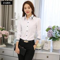 Áo sơ mi nữ dài tay thời trang công sở ZARIS ZA21581WB – Trắng phối đen