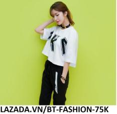 Áo Thun Nữ Kiểu Crop Top (Hở Eo) Thời Trang Hàn Quốc Mới – BT Fashion (AK-VV)