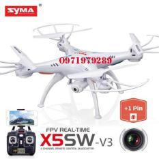 ( GỒM 2 PIN ) Máy bay điều khiển Syma X5SW WIFI FPV RC Không Đầu Chế Độ Drone với Camera HD, Syma X5SW