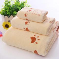 Bộ 3 khăn tắm – khăn mặt – khăn lau (Trắng)