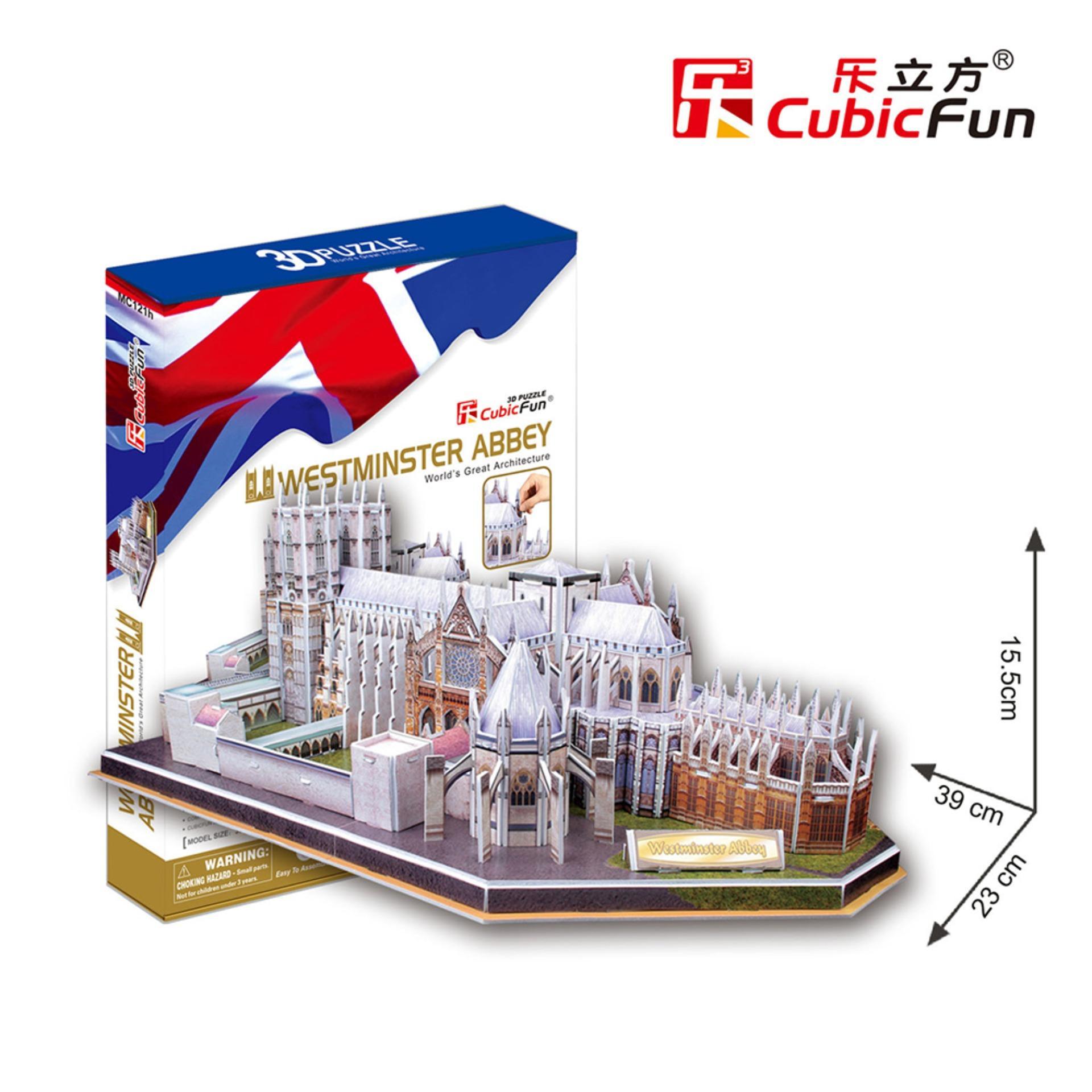 Đồ chơi xếp hình trí tuệ 3D cỡ lớn – Mô hình Tu viện Westminster