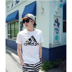Áo thun nam kiểu in hình form rộng phong cách Hàn Quốc Adidas2