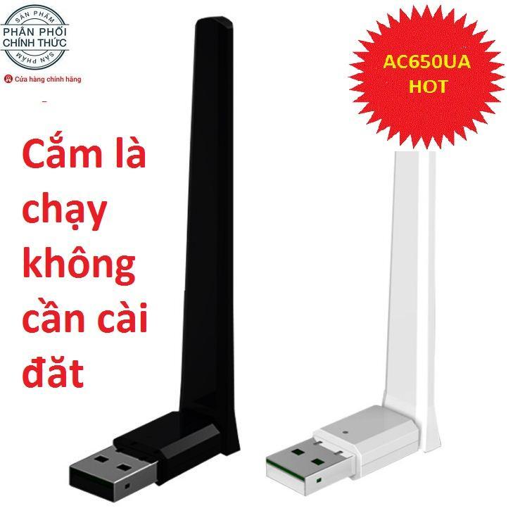 So sánh giá USB Wi-Fi băng tần kép AC650 MT7610 – Tốc độ siêu cao 650 Mbps Cắm là chạy không cần cài đặt (Đen) Tại ĐẦY ĐỦ TIỆN NGHI