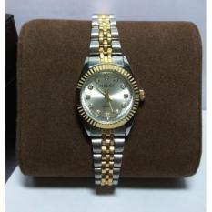 Đồng hồ nữ Halei dây dmi mặt trắng chống nước chống xước