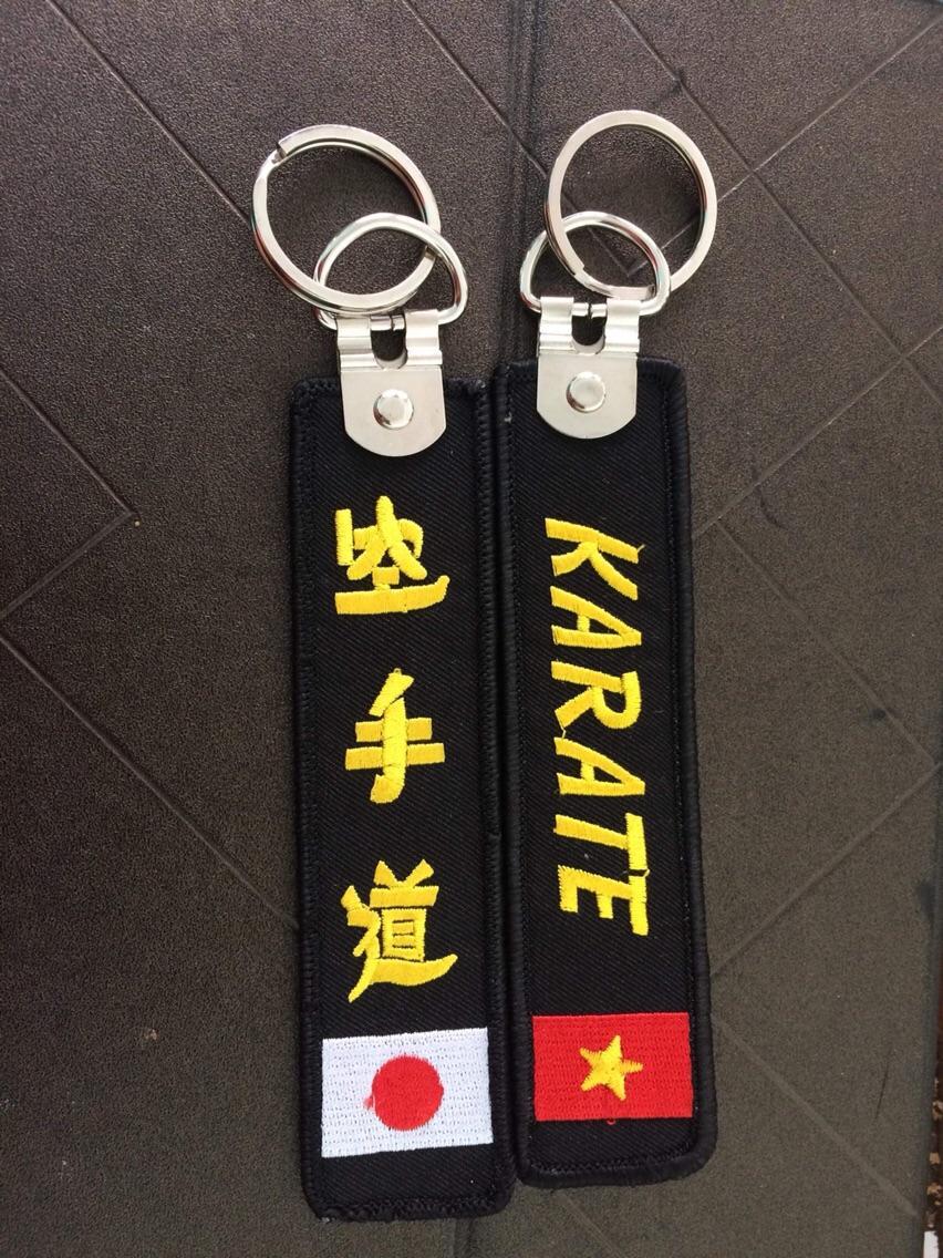 Móc khoá thêu Karatedo
