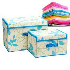 Combo 2 tủ vải có nắp liền loại trung