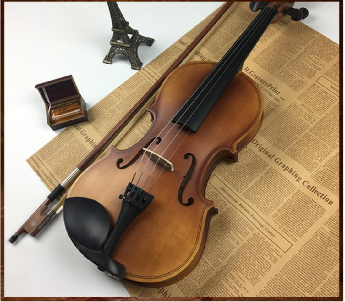 [HCM]Đàn Violin ( Vĩ cầm ) cao cấp size 4/4 gỗ nhám (full phụ kiện ) - HÀNG CÓ SẴN