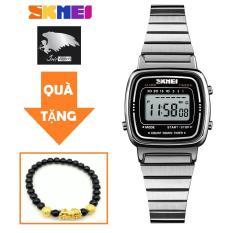 Đồng hồ nữ dây thép không gỉ Skmei 1252 sang trọng (Tặng vòng tay tỳ hưu nữ)