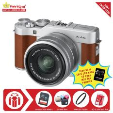 Fujifilm X-A5 KIT XC 15-45mm F/3.5-5.6 OIS PZ (Brown) + Combo Quà tặng – Hãng Phân phối chính thức