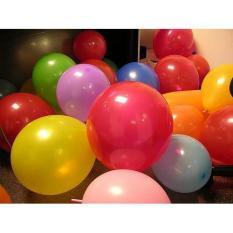 Bong Bóng Bay Hình Tròn ( Bộ 100 Cái ) NHIỀU MÀU- Bong Bóng Balloon