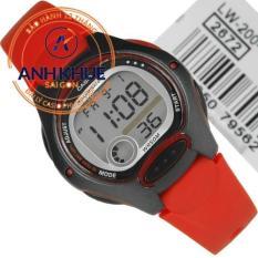 Đồng hồ dây cao su Casio Anh Khuê LW-200-4AVDF