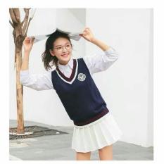 Áo gile len phong cách ullzang Hàn Quốc