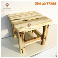 Ghế đôn gỗ tràm vuông – ghế đôn cafe – ghế gỗ cafe bệt – ghế ngồi cho Bé