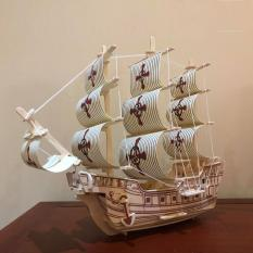 Đồ chơi lắp ráp gỗ 3D Mô hình Tàu Chiến Santa Maria