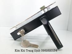 Bộ Khóa Tay Gạt Lắp Cửa Nhôm, Cửa Nhựa Hệ 4500 Việt Pháp (Đen)