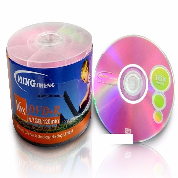 Nên mua Bộ 100 đĩa DVD mingsheng 4.7G 16X ở HOA LỢI