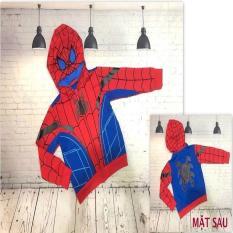 Áo khoác bé trai siêu nhân nhện từ 12-41kg