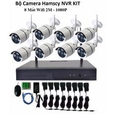 Bộ đầu ghi camera wifi Hamscy HD + 8 camera wifi 1080p- 2M
