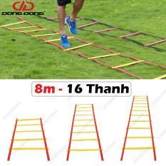 Thang dây thể thao tập luyện thể lực bóng đá 8m 16 thanh, nâng cao sức khỏe, thể lực và tầm vóc – DONGDONG