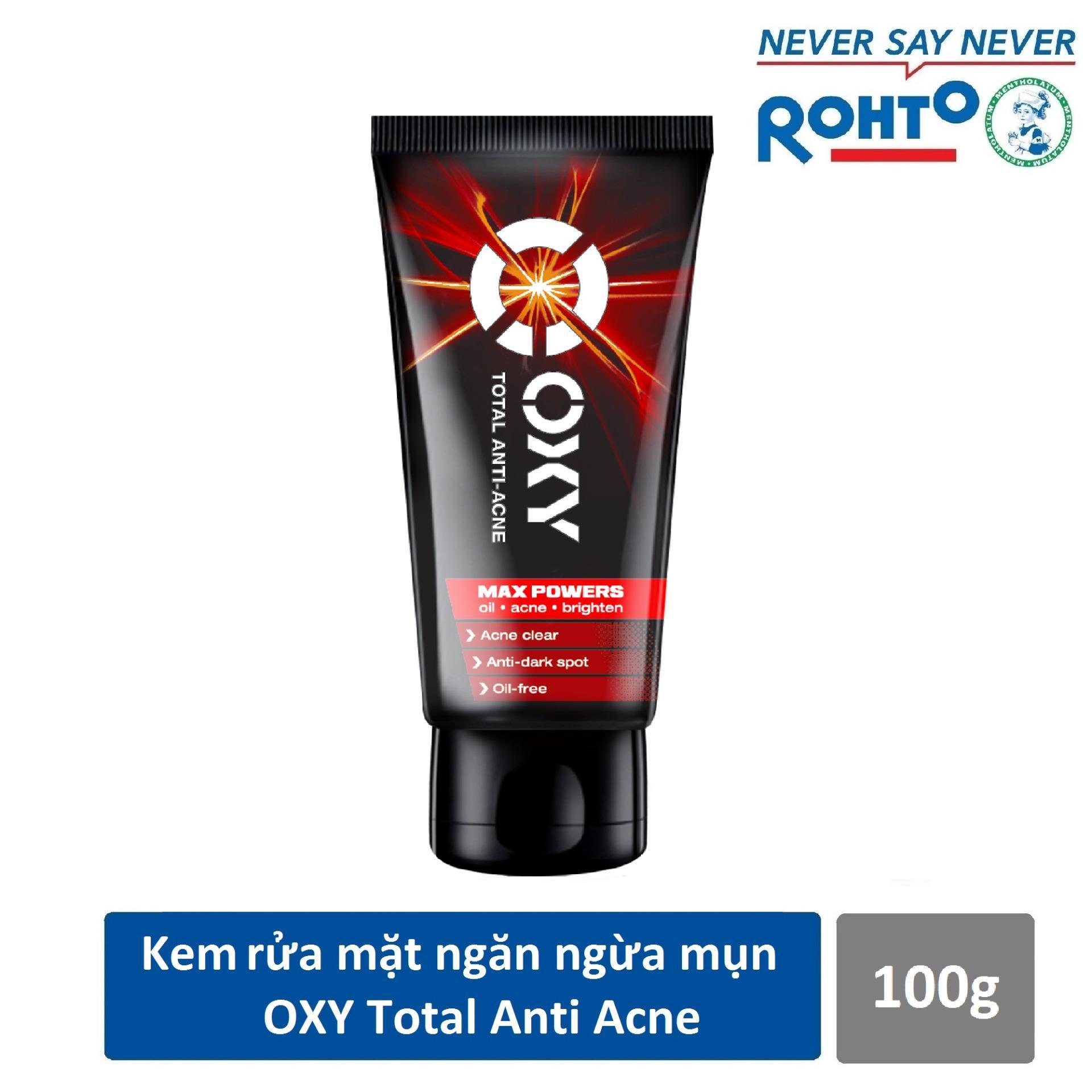 Kem rửa mặt ngăn ngừa mụn cho nam Oxy Total Anti Acne 100g – CƠ HỘI TRÚNG IPHONE X