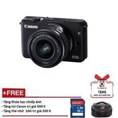 Canon EOS M10 kèm lens Kit EF-M 15-45mm STM (Màu đen)- Hàng Canon Lê Bảo Minh – Tặng khoá học nhiếp ảnh EOS + Thẻ SD 16GB + Túi (Hãng phân phối chính thức)