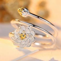 Nhẫn hoa sen bạc 925 cực xinh