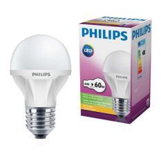 Bộ 3 Bóng Đèn Philips Led Ecobright 6W Đuôi E27 48V-230V A60 Ánh Sáng (Trắng)