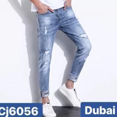 QUẦN JEAN NAM RÁCH WASH DB 6056 CAO CẤP – DUBAI FASHION