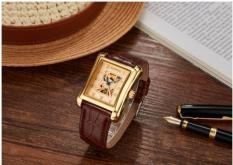 (Cập nhật 2019)Đồng hồ nam thời trang dây da cao cấp Sewor Q01 máy cơ Automatic