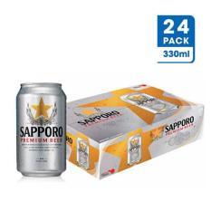 Thùng 24 Lon Bia Sapporo Premium 330ml – Hãng phân phối chính thức
