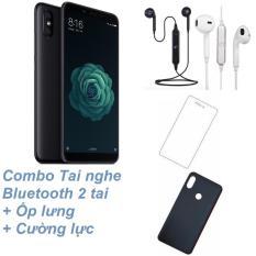 Xiaomi Mi 6X 64GB Ram 4GB (Đen) + Tai nghe Bluetooth 2 tai + Cường lực + Ốp lưng – Hàng nhập khẩu