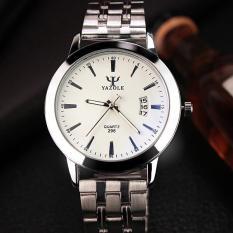 Đồng hồ nam dây inox Yazole DH21 (Mặt trắng)