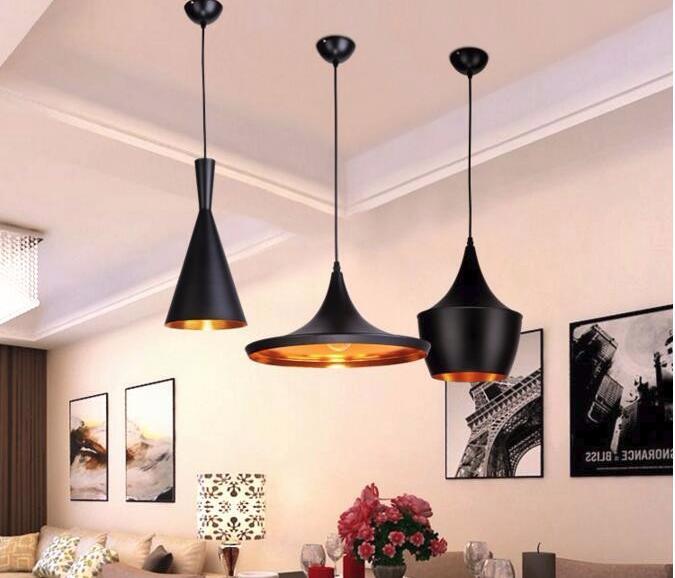 Chao đèn thả trần kiểu dáng Bắc Âu ABC (Đen)