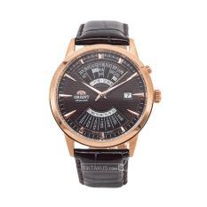 Đồng hồ nam dây da Orient Multi Year FEU0A001TH