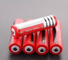 BỘ 10 Pin sạc 3.7V 18650 2200mah màu đỏ